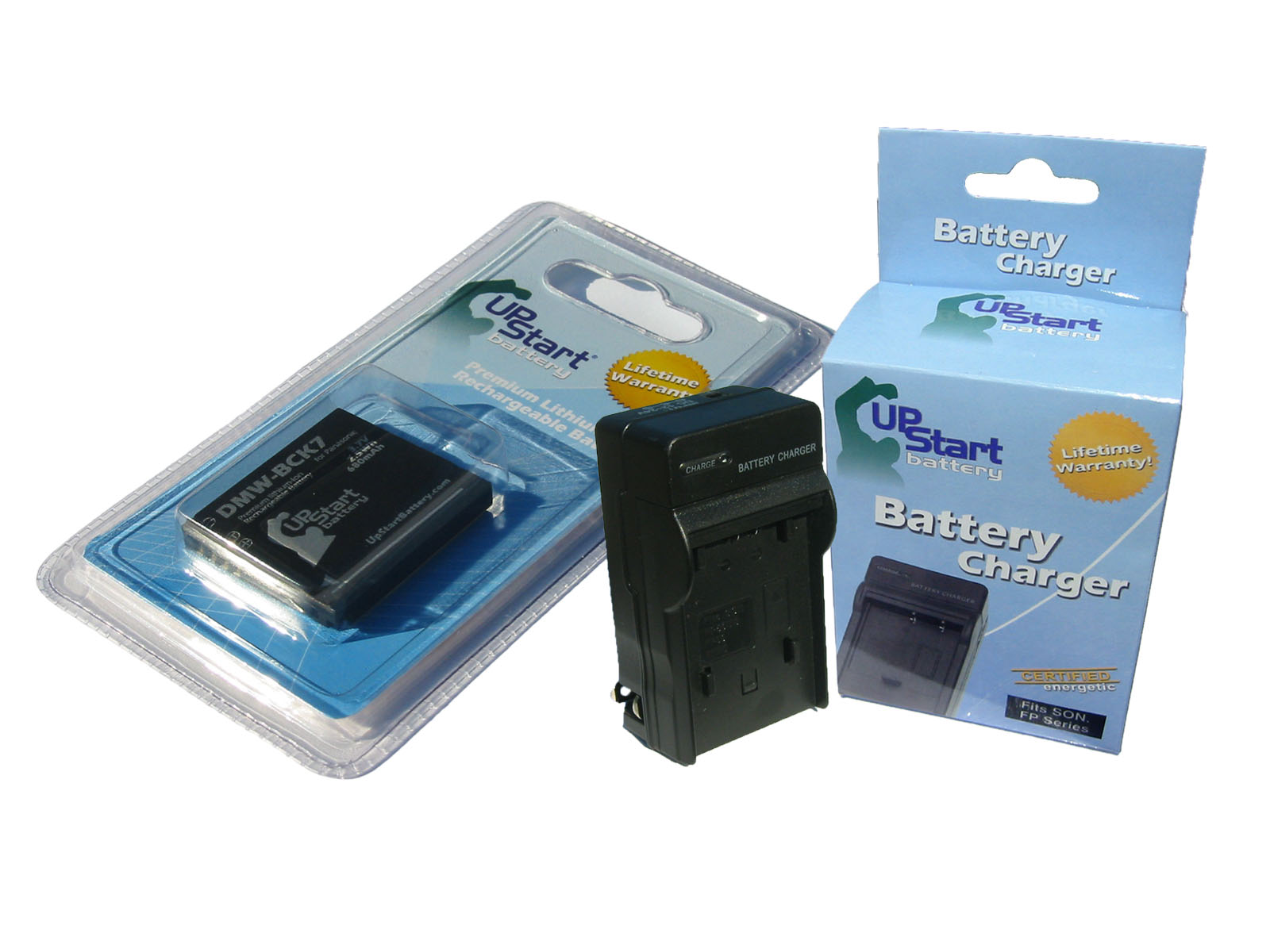 UpStart Battery Panasonic Lumix DMC-S1GK Digital Camera Battery + Charger Kit - Replacement Kit for Panasonic DMW-BCK7 at Sears.com