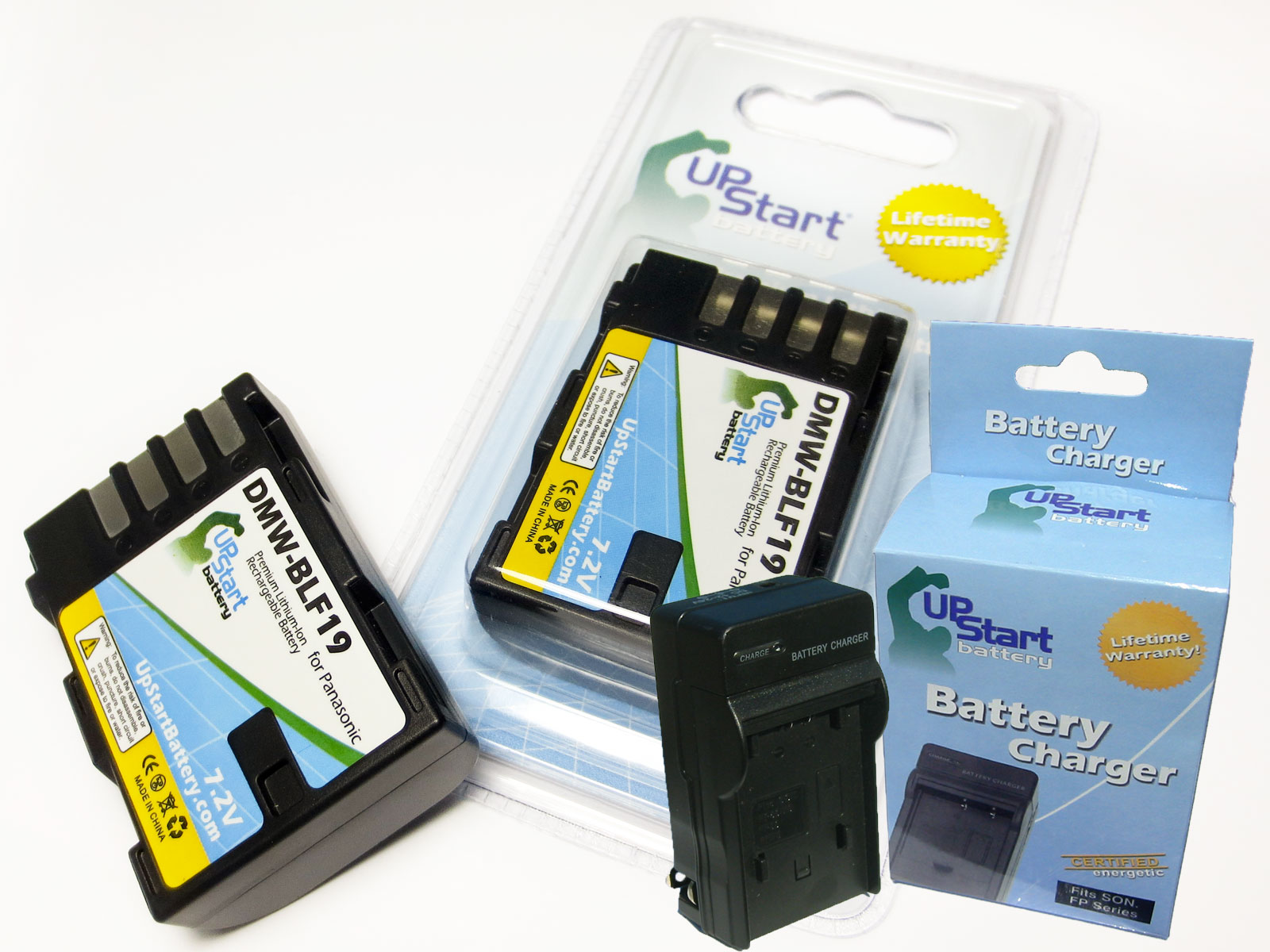 UpStart Battery 2x Pack - DMW-BLF19 Replacement Battery and Charger for Panasonic Lumix DMC-GH3, DMW-BLF19E, Lumix DMC-GH3A Camera at Sears.com