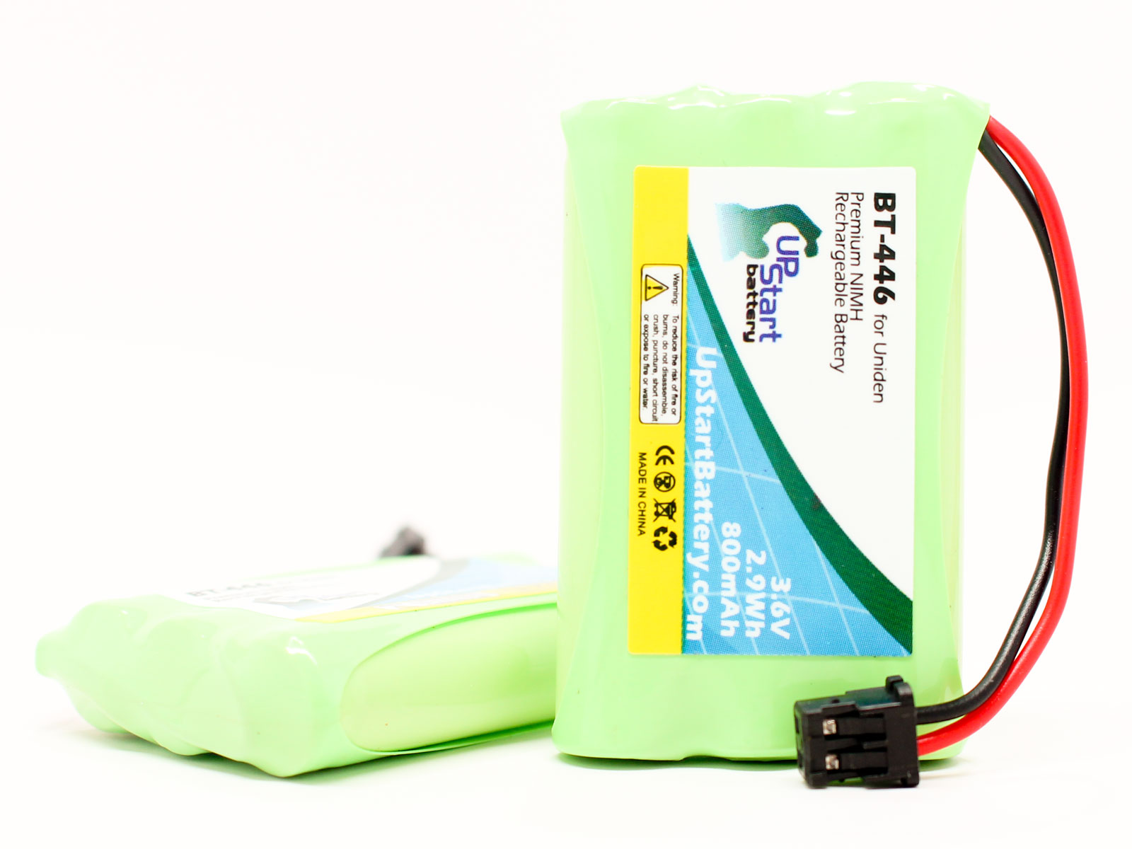 UpStart Battery 2x Pack - Uniden BT446 Battery - Replacement for Uniden Cordless Phone Battery (800mAh, 3.6V, NI-MH) at Sears.com