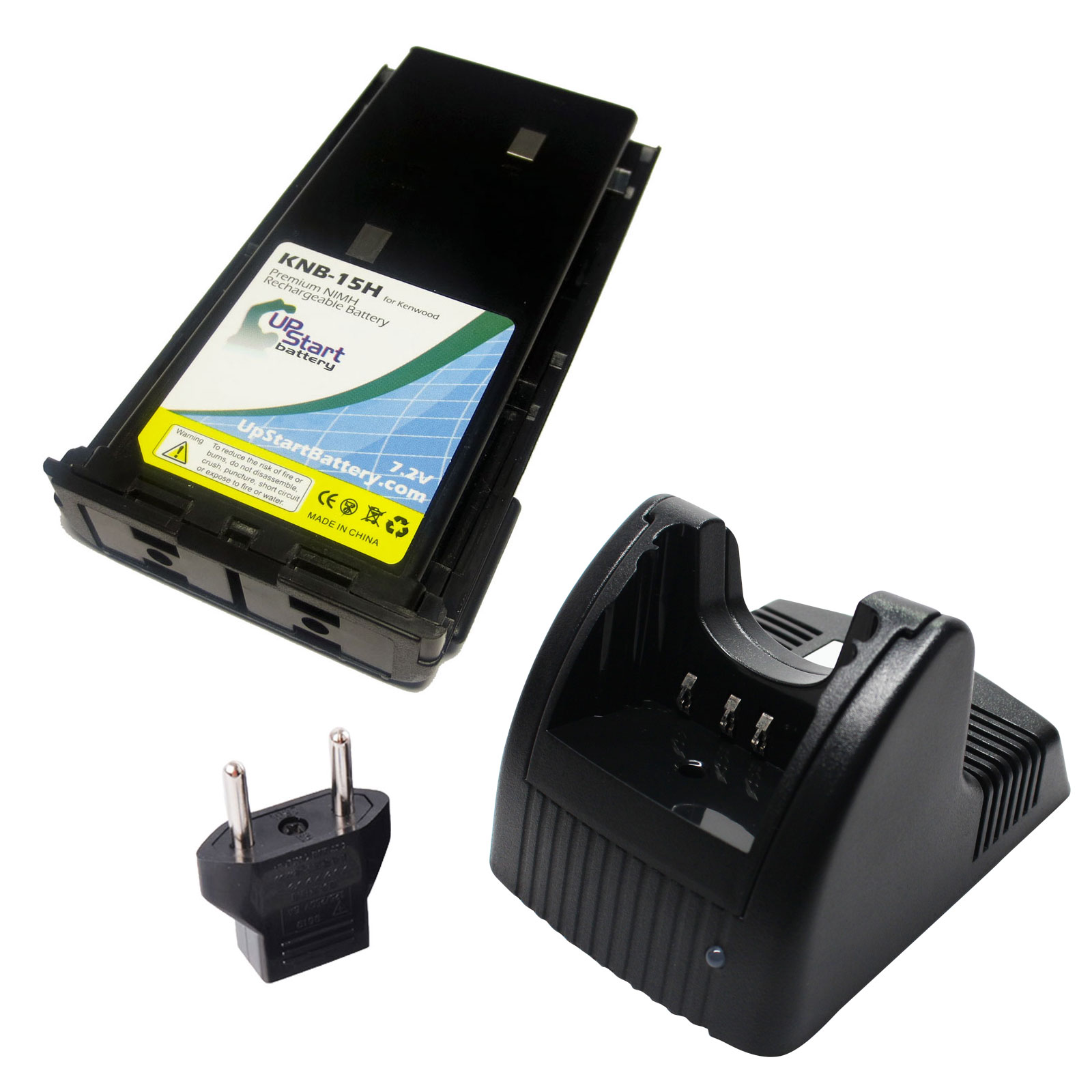 UpStart Battery Kenwood TK-372G Battery and Charger with EU Adapter - Replacement for Kenwood KNB-14, KNB-15 Radio Batteries and Chargers at Sears.com
