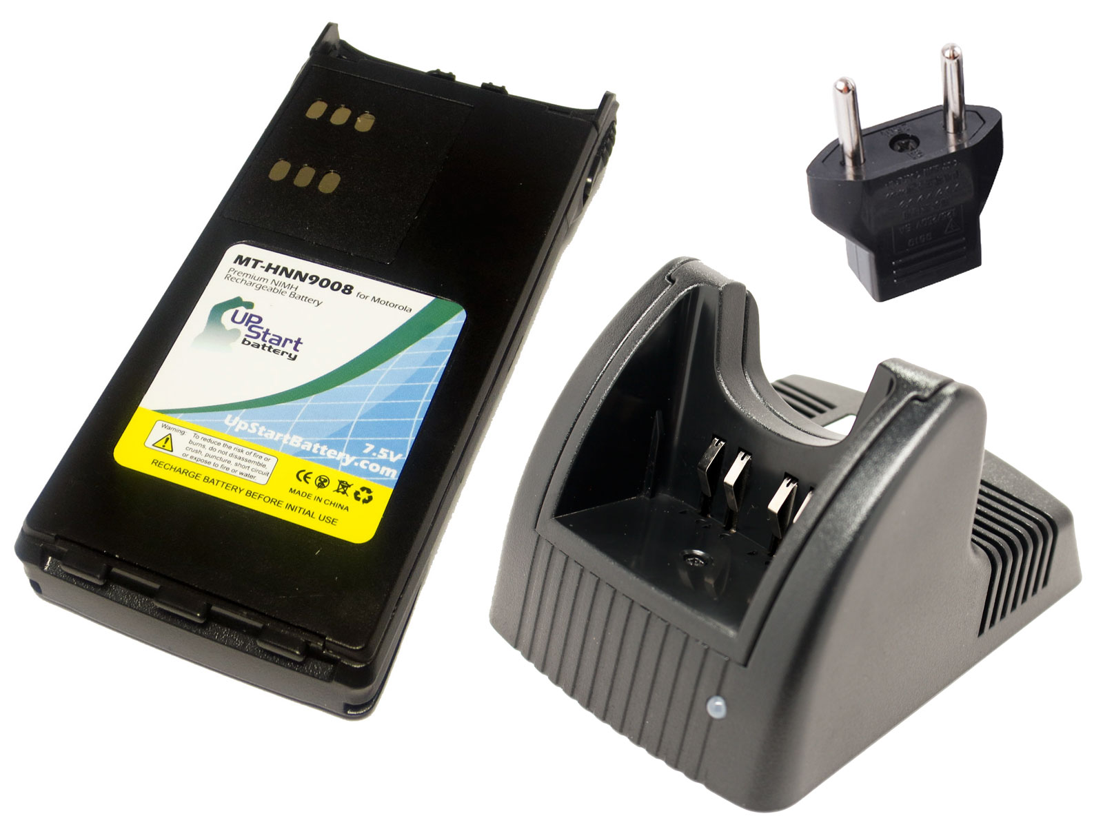 UpStart Battery Motorola Waris HT750 Battery and Charger with EU Adapter - Replacement for Motorola HNN9008A Radio Batteries and Chargers at Sears.com