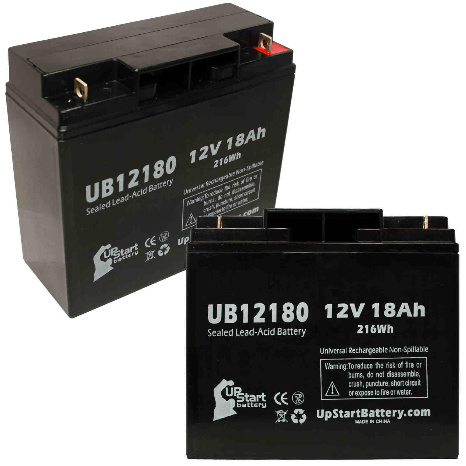 UpStart Battery 2x Pack - SEARS CRAFTSMAN DIEHARD PORTABLE POWER 1150 Battery - Replacement UB12180 SLA Battery (12V, 18Ah, T4 Terminal) at Sears.com
