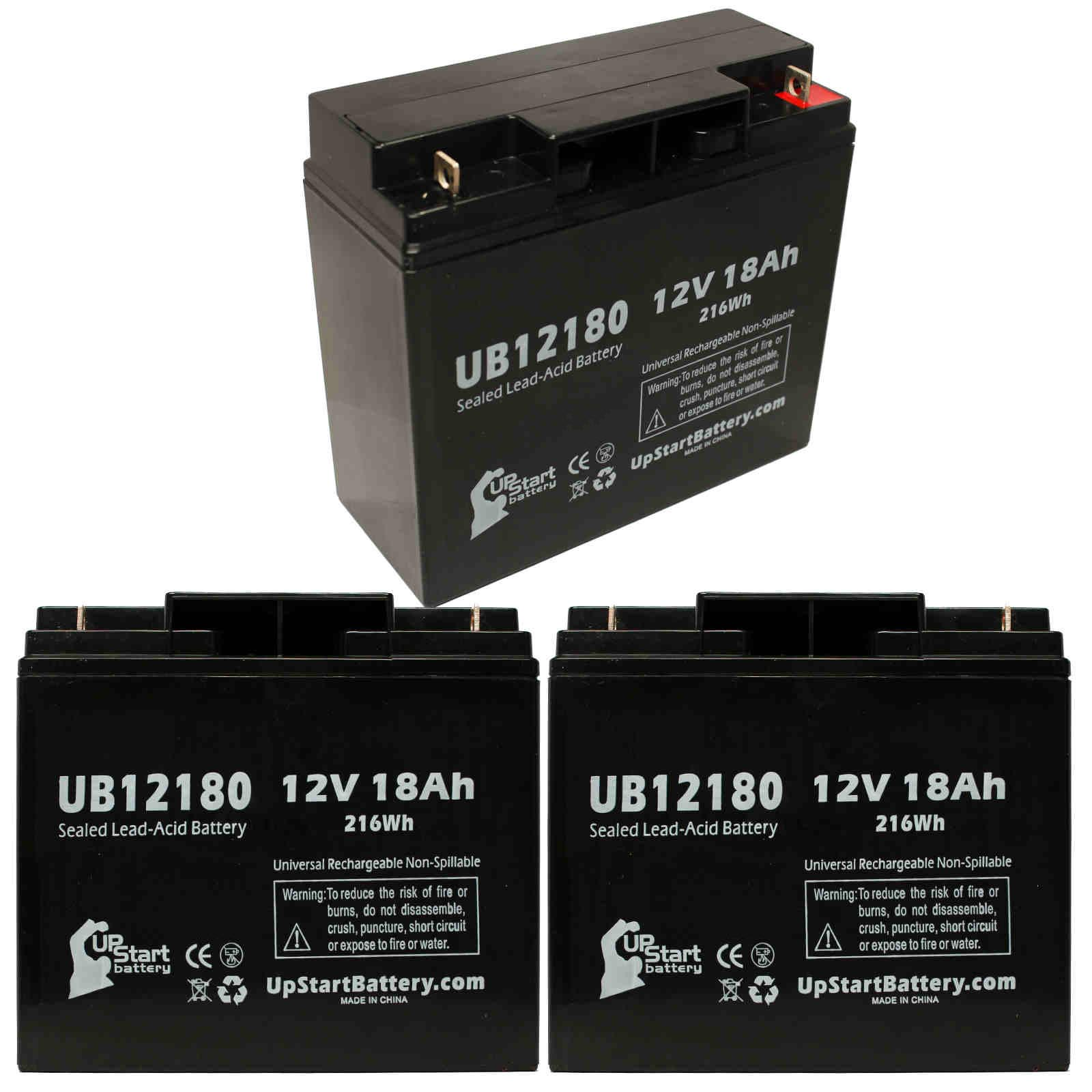 UpStart Battery 3x Pack - SEARS CRAFTSMAN DIEHARD PORTABLE POWER 1150 Battery - Replacement UB12180 SLA Battery (12V, 18Ah, T4 Terminal) at Sears.com