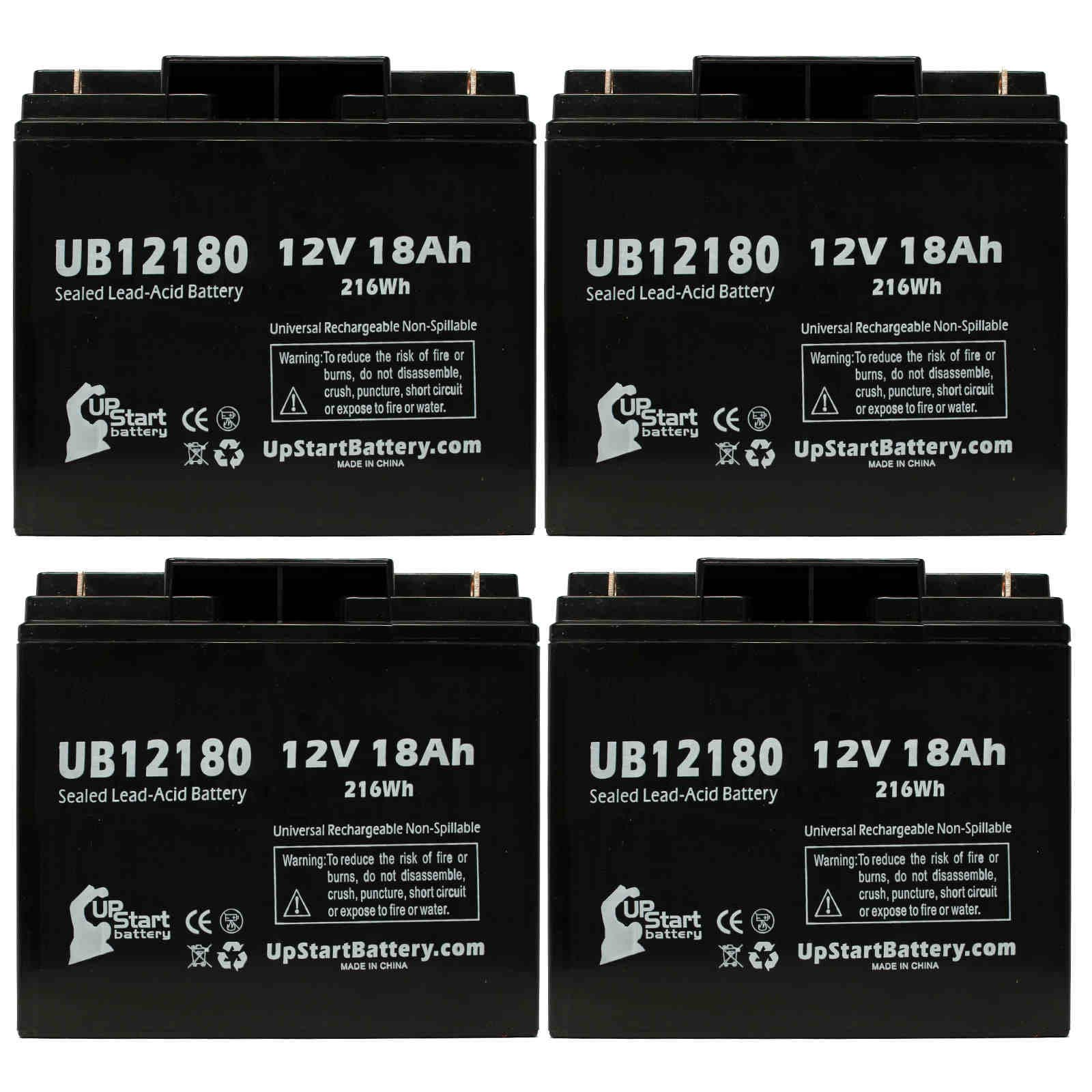 UpStart Battery 4x Pack - SEARS CRAFTSMAN DIEHARD PORTABLE POWER 1150 Battery - Replacement UB12180 SLA Battery (12V, 18Ah, T4 Terminal) at Sears.com