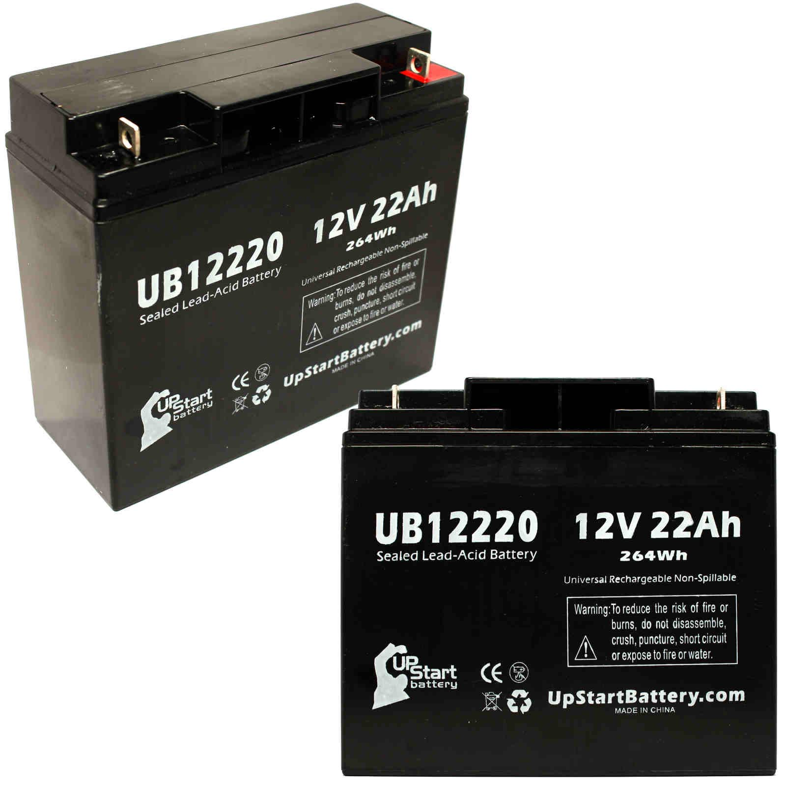 UpStart Battery 2x Pack - Access Battery BED Battery - Replacement UB12220 Universal Sealed Lead Acid Battery (12V, 22Ah, T4 Terminal,) at Sears.com