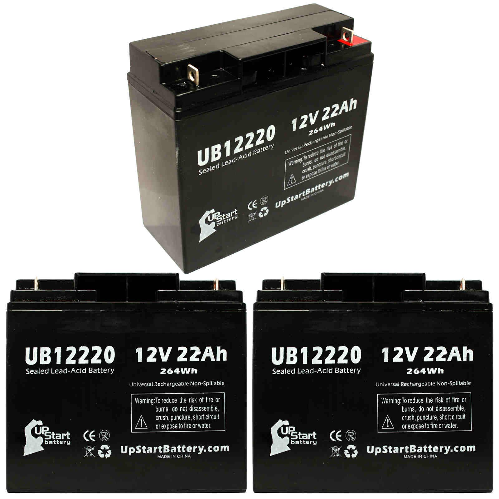 UpStart Battery 3x Pack - Access Battery BED Battery - Replacement UB12220 Universal Sealed Lead Acid Battery (12V, 22Ah, T4 Terminal,) at Sears.com