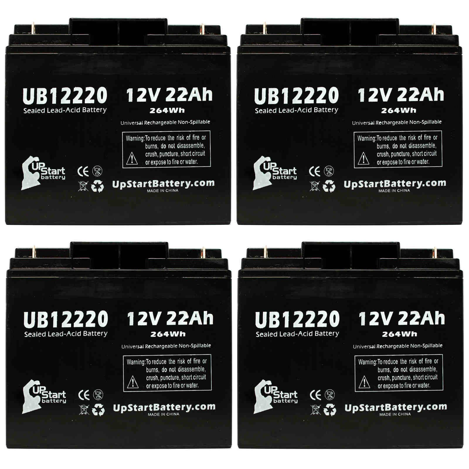 UpStart Battery 4x Pack - SEARS CRAFTSMAN DIEHARD PORTABLE POWER 1150 Battery - Replacement UB12220 SLA Battery (12V, 22Ah, T4 Terminal) at Sears.com