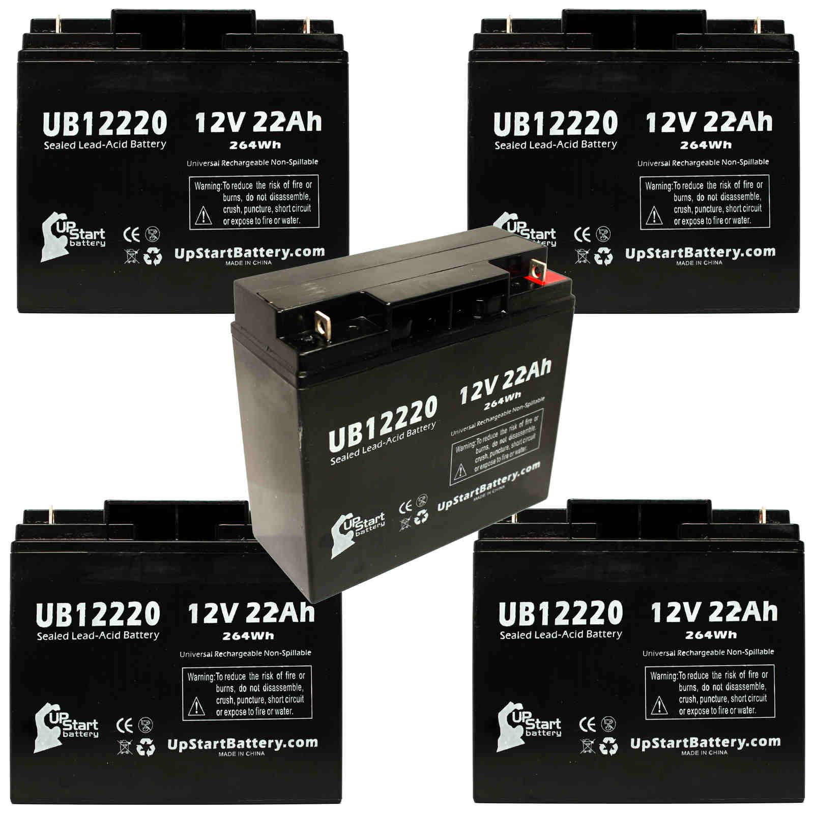UpStart Battery 5x Pack - ACCESS BATTERY SLA12180 Battery - Replacement UB12220 Universal Sealed Lead Acid Battery (12V, 22Ah, T4 Terminal,) at Sears.com