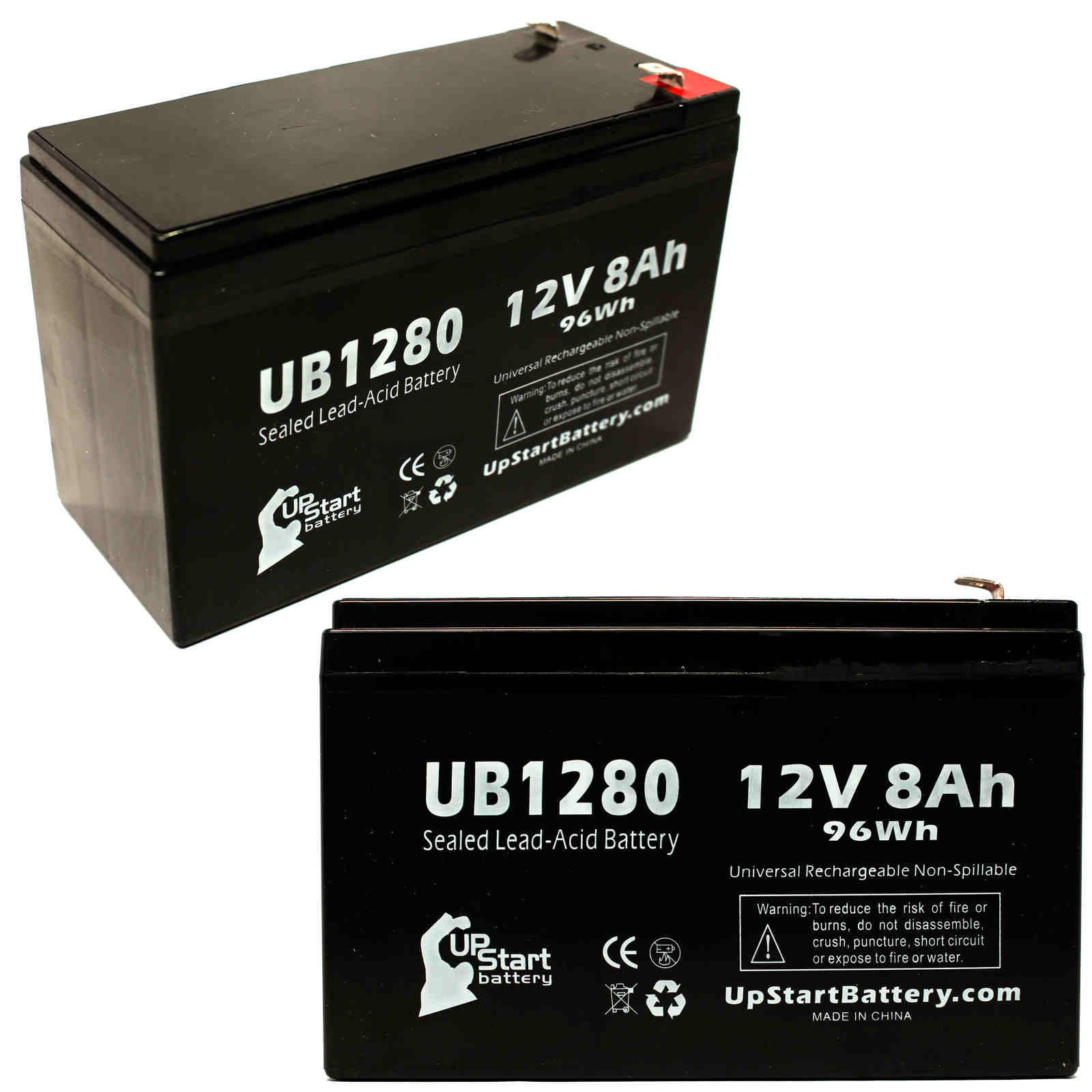 UpStart Battery 2x Pack - Invivo Research Inc 1100 OMEGA BLOOD PRESSURE MONITOR Battery - Replacement UB1280 Universal SLA Battery (12V, 8Ah) at Sears.com
