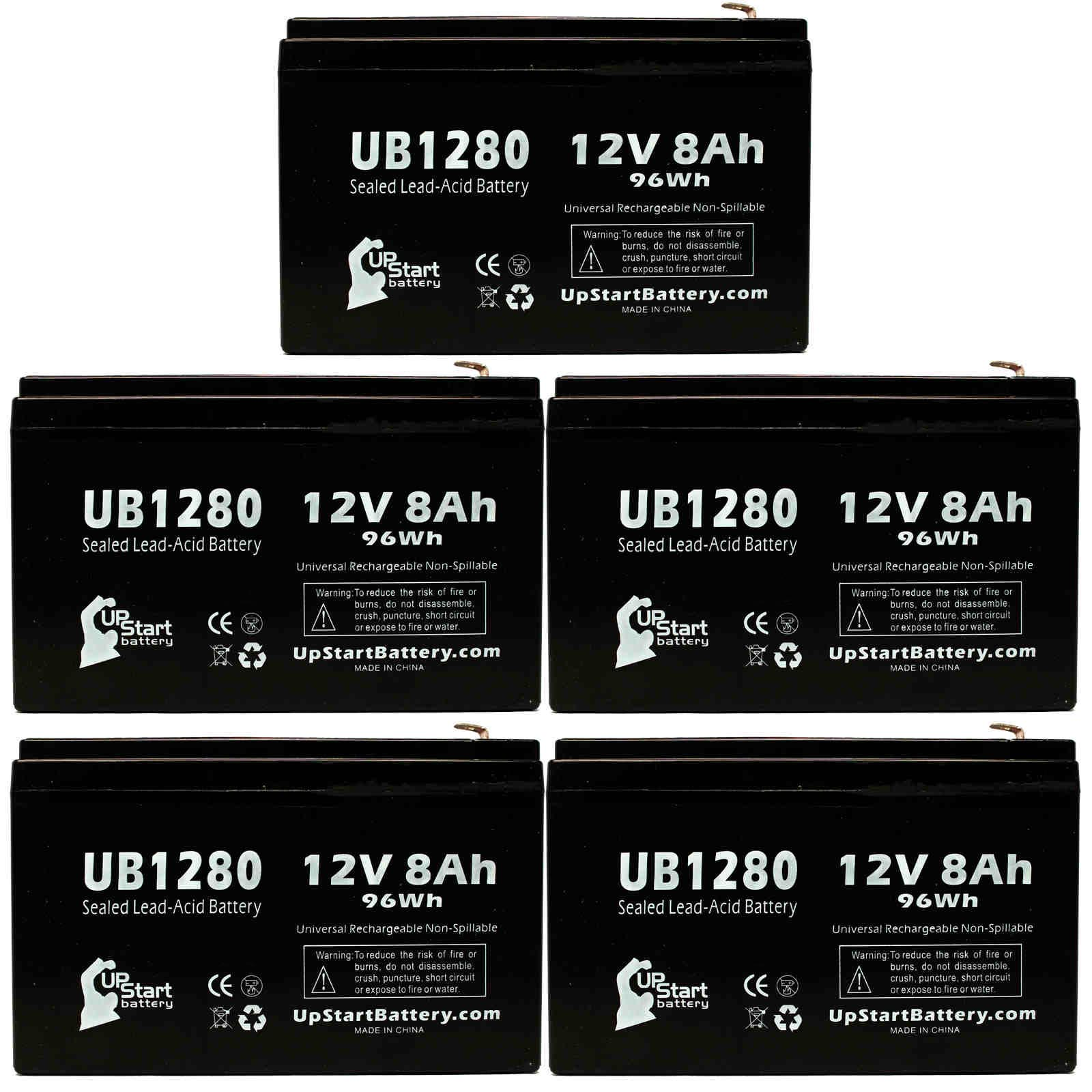UpStart Battery 5x Pack - Invivo Research Inc OMEGA BLOOD PRESSURE MONITOR 1100 Battery - Replacement UB1280 Universal SLA Battery (12V, 8Ah) at Sears.com