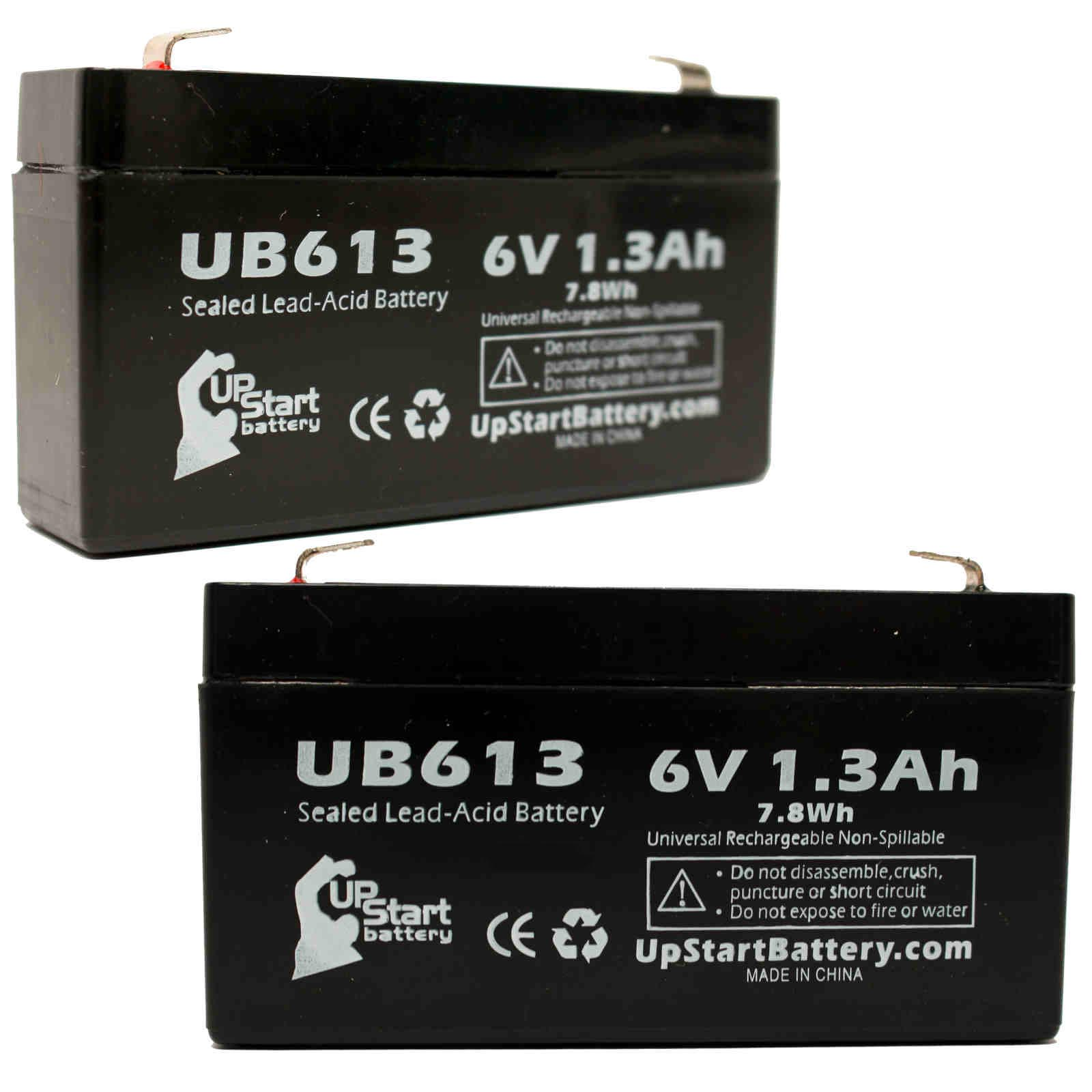 UpStart Battery 2x Pack - CAS MEDICAL 920 Battery - Replacement UB613 Universal Sealed Lead Acid Battery (6V, 1.3Ah) at Sears.com