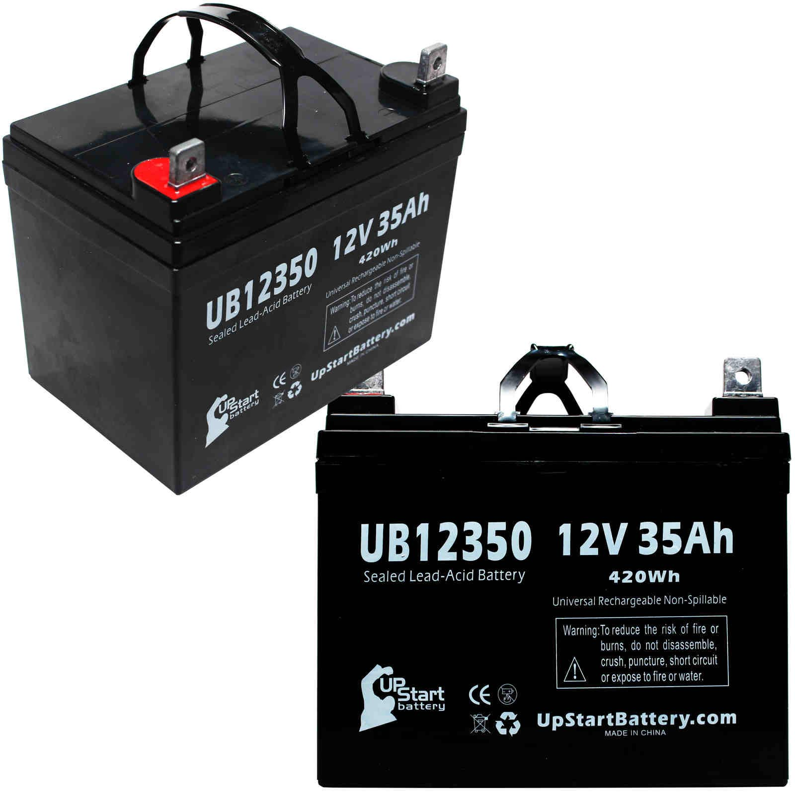 2 Pack Pride Mobility Scooter Battery Ub12350 12v 35ah